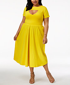 Rebdolls Plus Size Skater Dress from The Workshop at Macy's