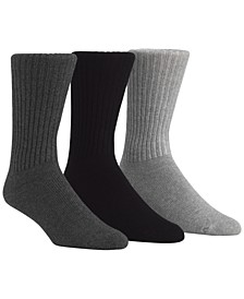 Men's Cotton Rich Casual Rib Crew Socks, 3-Pack