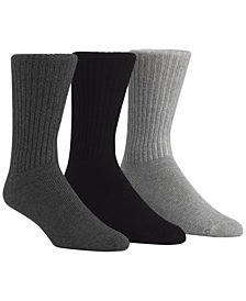 Calvin Klein Men's Cotton Rich Casual Rib Crew Socks, 3-Pack