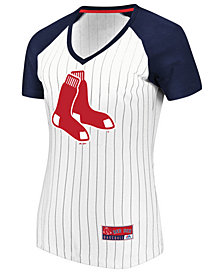 Majestic Women's Boston Red Sox Every Aspect Pinstripe T-Shirt