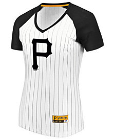 Majestic Women's Pittsburgh Pirates Every Aspect Pinstripe T-Shirt