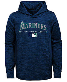 Outerstuff Seattle Mariners Team Drive Fleece Hoodie, Big Boys (8-20)