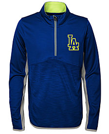 Outerstuff Los Angeles Dodgers Excellence Quarter-Zip Pullover, Big Boys (8-20)