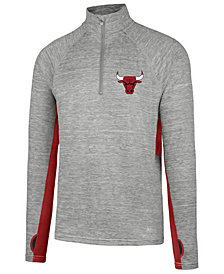 '47 Brand Men's Chicago Bulls Evolve Forward Quarter-Zip Pullover