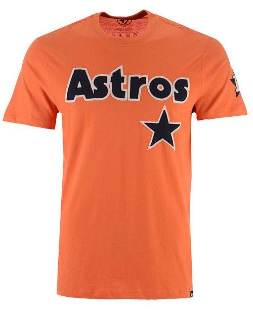 040b76921cb2b 47 Brand Men s Houston Astros Fieldhouse Basic T-Shirt - Sports Fan ...