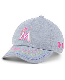 Under Armour Girls' Miami Marlins Renegade Twist Cap