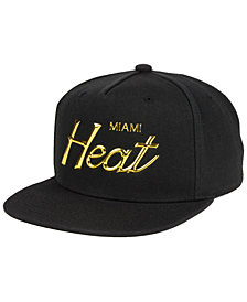 Mitchell & Ness Miami Heat Metallic Tempered Snapback Cap