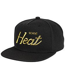 Mitchell & Ness Miami Heat Metallic Tempered Snapback Cap