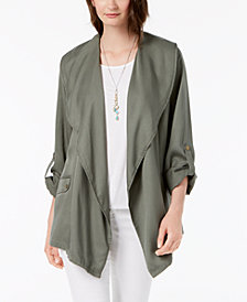 Style & Co Draped Asymmetrical Utility Jacket, Created for Macy's