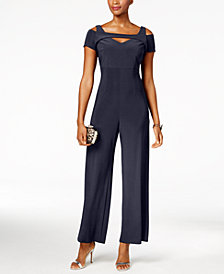Nightway Cutout Wide-Leg Jumpsuit