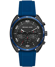 Michael Kors Men's Chronograph Dane Blue Silicone Strap Watch 43mm