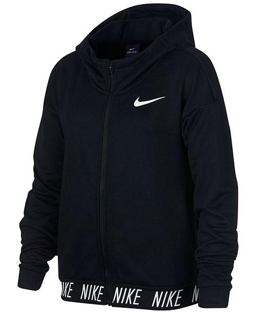 85668877fbcc Nike Big Girls Zip-Up Dry Training Hoodie   Reviews - Sweaters ...