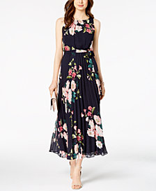 Jessica Howard Petite Belted Floral Maxi Dress