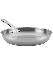 "12.5"" Stainless Steel Skillet"