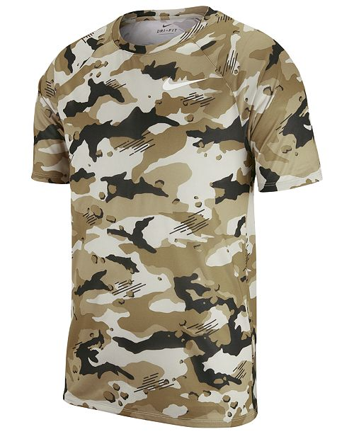 1a5111d10b93 Nike Men s Dry Legend Camo-Print T-Shirt   Reviews - T-Shirts - Men ...