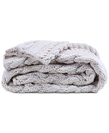 "Berkshire 50"" x 70"" Chunky Cable-Knit Throw"