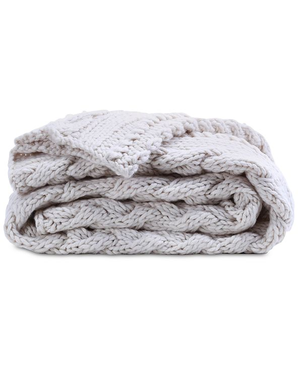 """Berkshire 50"""" x 70"""" Chunky Cable-Knit Throw"""