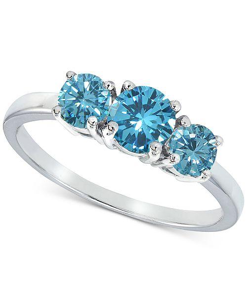 90139e7fac5b2 Giani Bernini Cubic Zirconia Stackable Three-Stone Ring in Sterling ...