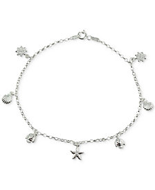 Giani Bernini Seaside Charm Ankle Bracelet in Sterling Silver, Created for Macy's