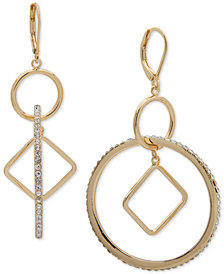 Anne Klein Pavé Orbital Drop Earrings