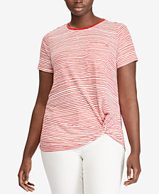 Lauren Ralph Lauren Plus Size Relaxed Fit T-Shirt