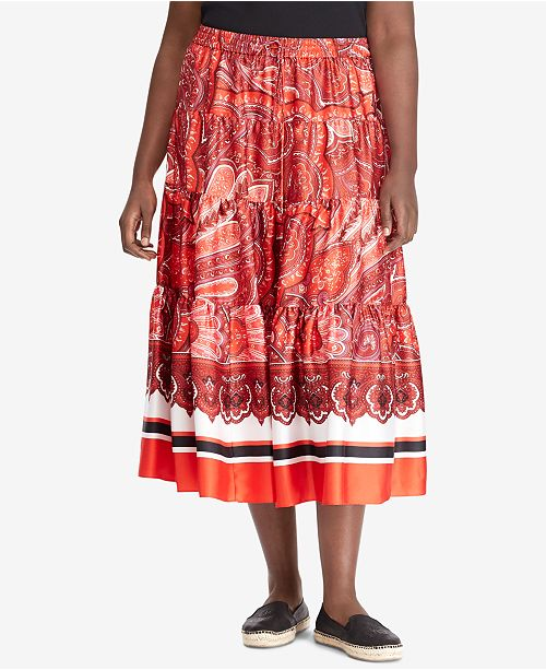 9a5c8594994a7 Lauren Ralph Lauren. Plus Size A-Line Skirt. Be the first to Write a  Review. main image  main image ...