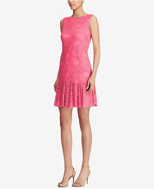 Dress Living American Pink Ruffled Lace 7Tn4qTf8a