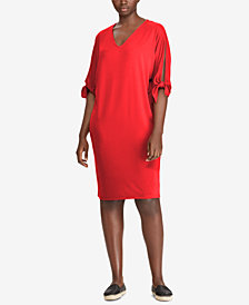 Lauren Ralph Lauren Plus Size Dolman-Sleeve Shift Dress