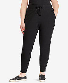 Lauren Ralph Lauren Plus Size French Terry Jogger Pants