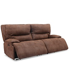 Felyx 84'' 2-Pc. Fabric Power Reclining Sofa With 2 Power Recliners, Power Headrests And USB Power Outlet