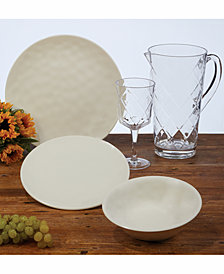 Certified International Cream Melamine Dinnerware