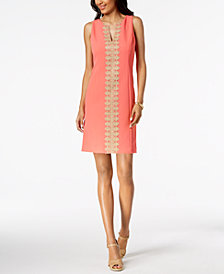 Pappagallo Crochet-Trim Shift Dress