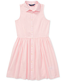Polo Ralph Lauren Big Girls Dress, Poplin Shirtdress