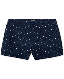 Polo Ralph Lauren Cotton Seersucker Shorts, Little Girls