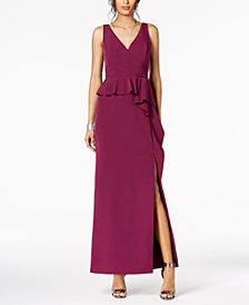 Vince Camuto Ruffled Peplum Gown