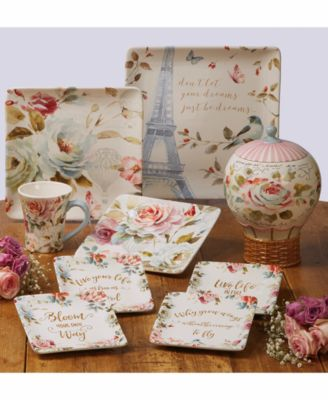 ... Parisian-style presented by the lush floral landmark and hot air balloon motifs of the Beautiful Romance Dinnerware Set from Certified International.  sc 1 st  Macyu0027s & Certified International Beautiful Romance Dinnerware - Dinnerware ...