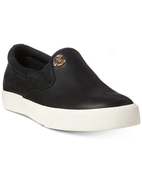 34aef6be08 Lauren Ralph Lauren Ria Slip-On Fashion Sneakers & Reviews ...