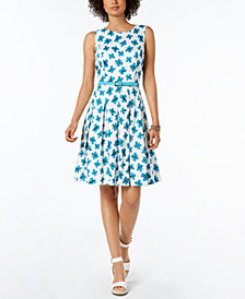 Tommy Hilfiger Floral-Print Sleeveless Dress, Created for Macy's