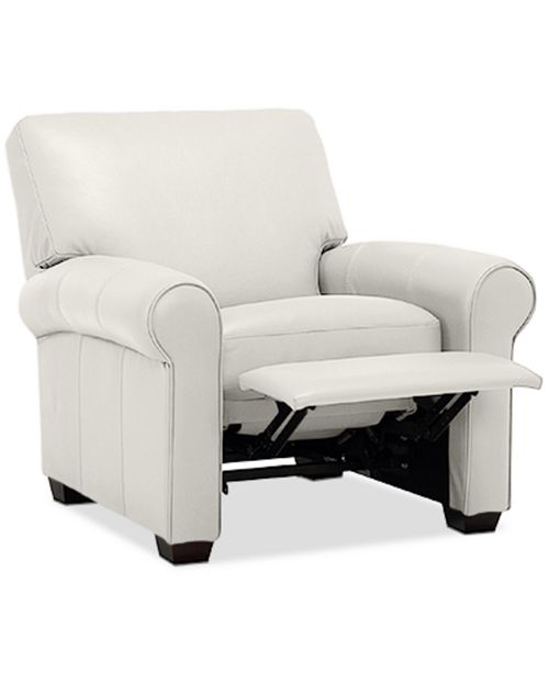 """Furniture Orid 36"""" Leather Pushback Recliner, Created for Macy's"""