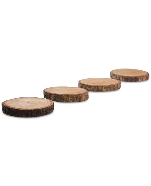 Tabletops Unlimited Set Of 4, Down To Earth Round Coasters