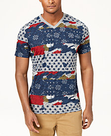 American Rag Men's Patchwork T-Shirt, Created for Macy's