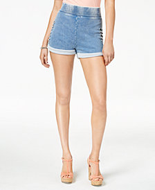 GUESS Andrea Cuffed Cutout Shorts