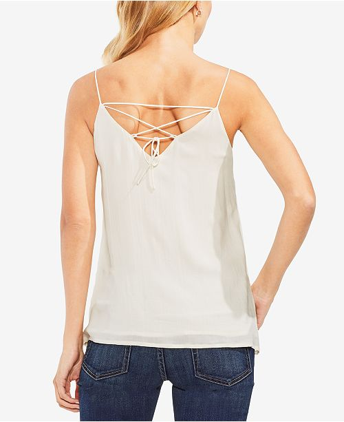 Camuto Eyelet Vince Camisole Antiq Top Up White Scalloped Lace Tq1waxUd