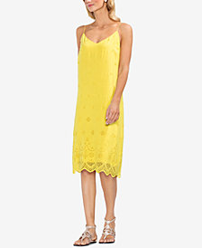 Vince Camuto Scalloped Eyelet Dress