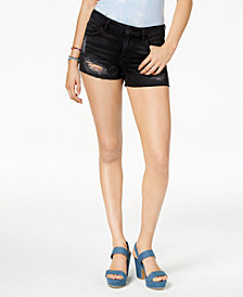 GUESS Ripped Cutoff Denim Shorts
