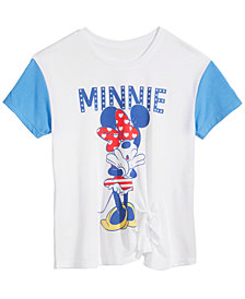 Disney Big Girls Minnie Mouse Tie-Front T-Shirt