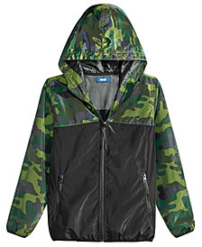 Univibe Big Boys Camo-Print Windbreaker Jacket