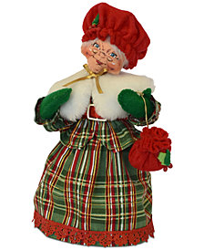 Annalee Mrs. Plaid Tidings Figurine