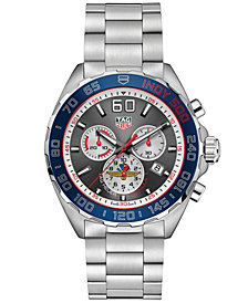 TAG Heuer Men's Swiss Chronograph Formula 1 INDY500 Stainless Steel Bracelet Watch 43mm - a Limited Edition