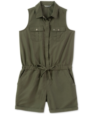 Calvin Klein Big Girls CargoPocket Romper